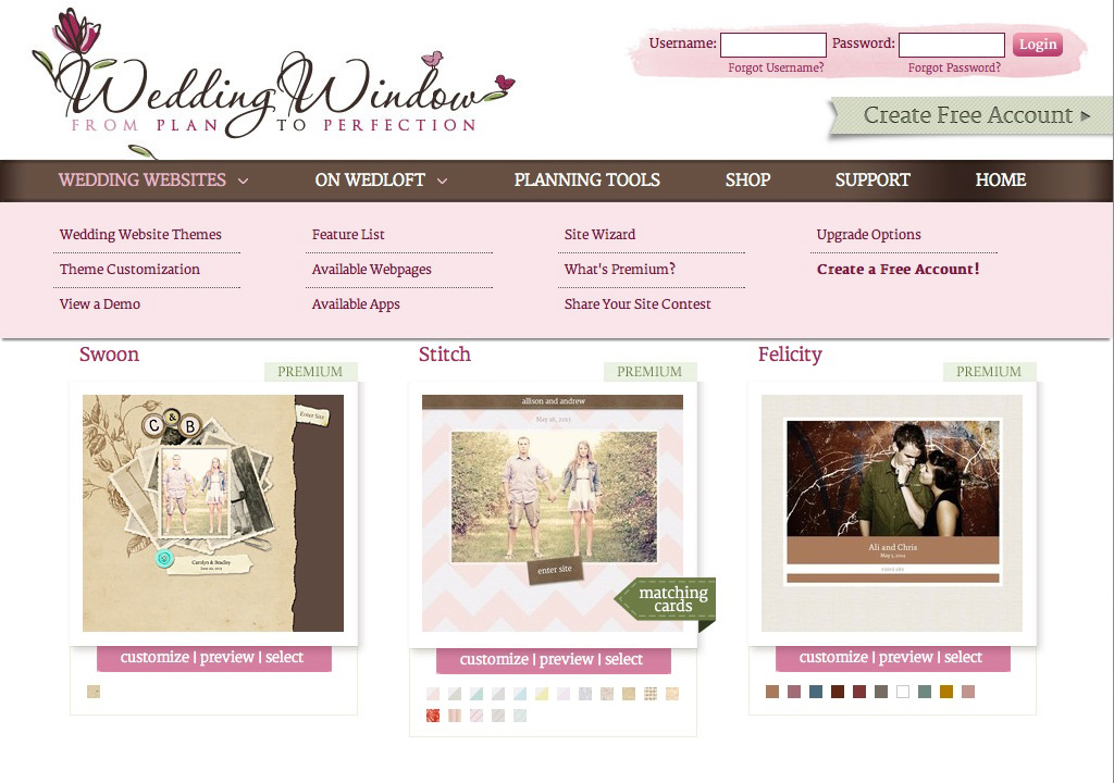 ideas-wedding-website