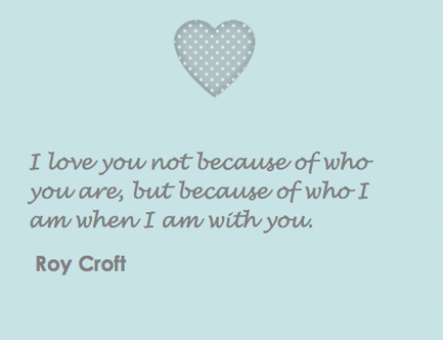 Wedding Roy Croft quote