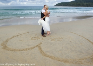 Noosa beach wedding ceremony