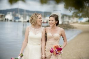 two girls in love ceremony Noosa
