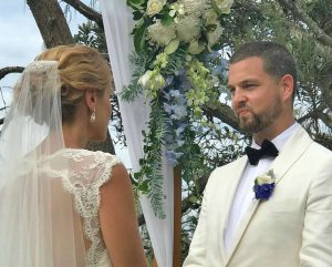 Vows at Noosa Wedding, Celebrant Patricia Quinn
